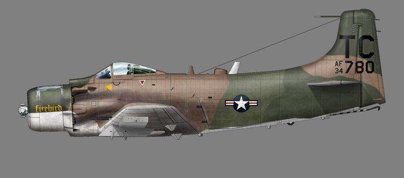 A-1H Firebird Bat 21