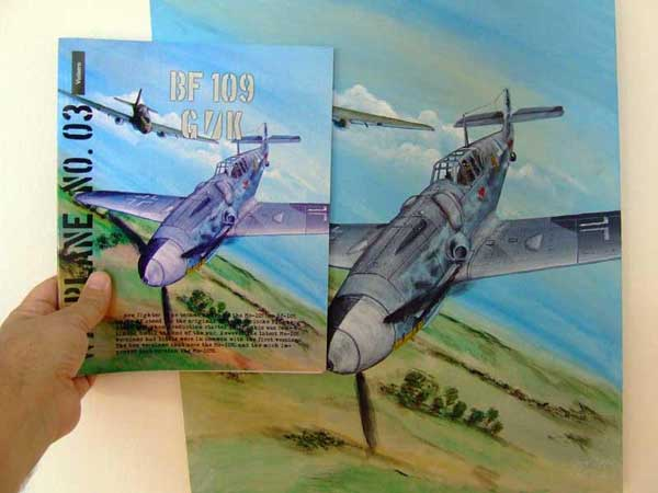 Bf 109 classic painting cover art